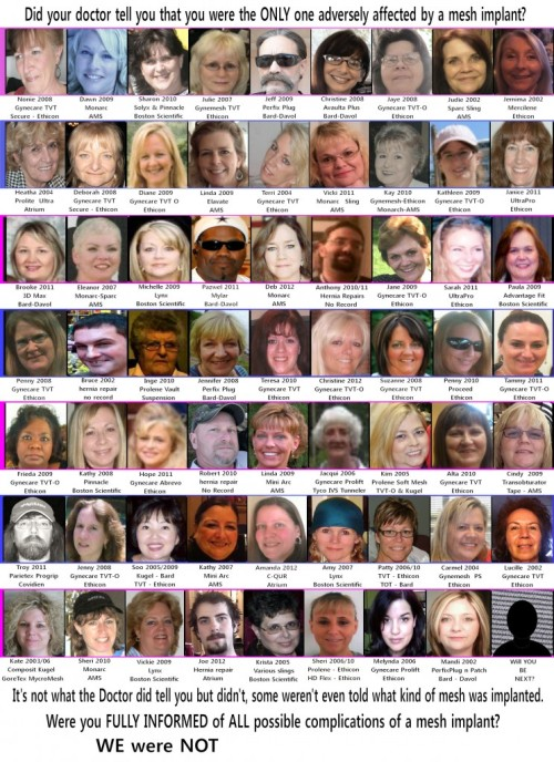 Memorial Wall of Mesh Survivors! by, Jaye Nevarez