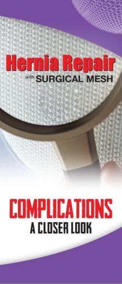 BROCHURES & HANDOUTS - Hernia Mesh Complications
